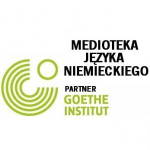 Logotyp Medioteki Języka Niemieckiego - partnera Goethe Intitut