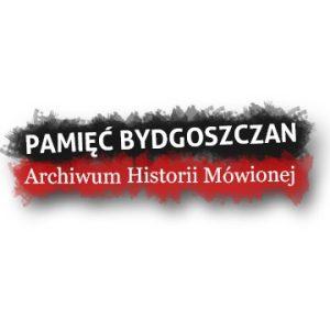 """Logo Archiwum Historii Mówionej """"Pamięć bydgoszczan"""""""
