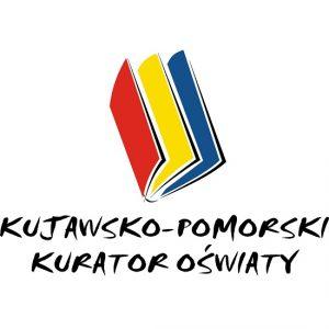 Logo kuratorium oraz napis Kujawsko-Pomorski Kurator Oświaty