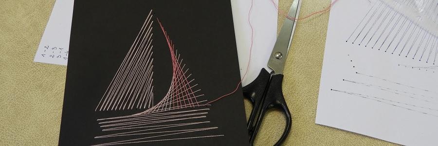 Matematyczne wyszywanie, czyli haft na papierze