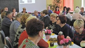 Uczestnicy spotkania z Polskiego Związku Niewidomych