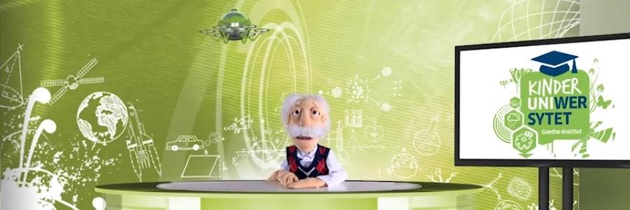 Internetowy uniwersytet dziecięcy na lekcji języka niemieckiego