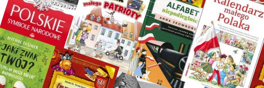 Książki dla dzieci wbiało-czerwonych barwach