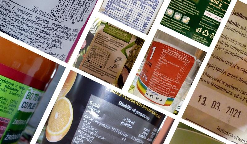 Etykiety produktów