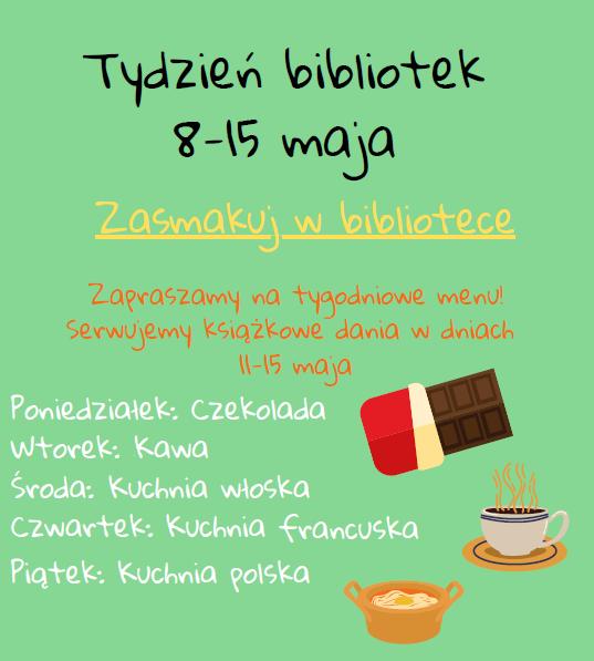 Tydzień Bibliotek 2020 plakat