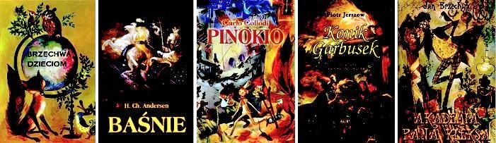 Okładki książek ilustrowanych przez Jana Marcina Szncera