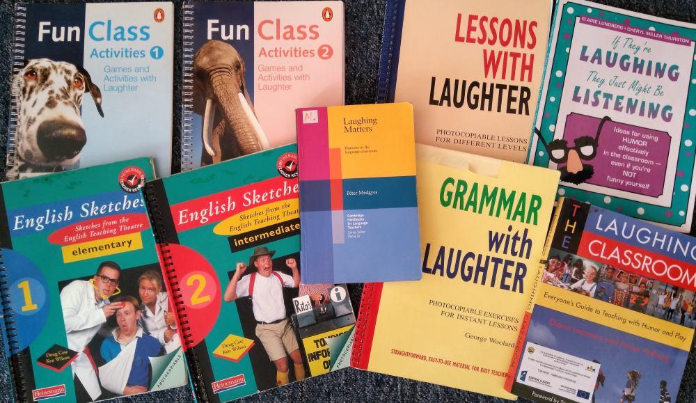 Okładki książek do nauki języka angielskiego z humorem i śmiechem..
