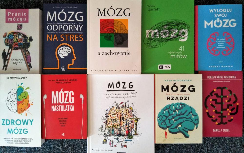Okładki książek o mózgu