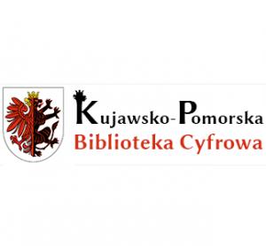 Logotyp Kujawsko-Pomorska Biblioteka Cyfrowa i herb województwa kujawsko-pomorskiego
