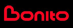 Logotyp Bonito w kolrze czerwonym
