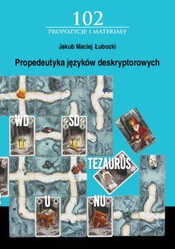 """Okładka książki """"Propedeutyka języków deskryptorowych"""""""