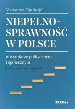 """Okładka książki """"Niepełnosprawność w Polsce w wymiarze politycznym i społecznym"""""""
