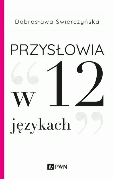 """Okładka książki """"Przysłowia w 12 językach"""""""