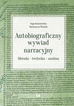 """Okładka książki pt. """"Autobiograficzny wywiad narracyjny""""."""""""